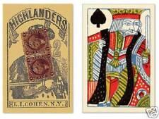Playing Cards 55 Repro Antique Highlanders Poker Deck 1864 Civil War Era