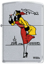 Zippo 1930s Windy Girl Satin Chrome Windproof Lighter VERY RARE HARD TO FIND