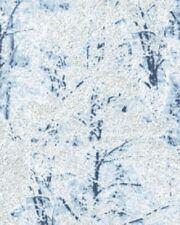 Fat Quarter Winter Trees Powder Blue Cotton Quilting Fabric - Benartex