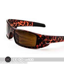 Tortoise GAS CAN Sunglasses Super Dark Smoke Lens X Sports Biker Locs Wrap S031