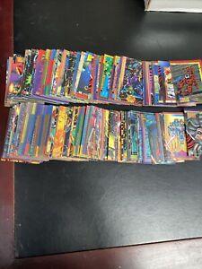 226 Card Lot 1993 Skybox Marvel Superheroes Trading Cards Spiderman Hulk Iron Ma