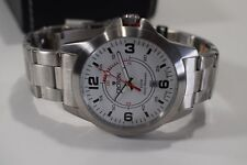 Croton Men's Stainless Steel White Dial Swiss Watch CA301208SSDW