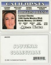 Carmen Electra fun fake  ID card Drivers License elektra -- Dennis Rodman gal
