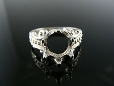 5514 RING SETTING STERLING SILVER, 9X7 OVAL SIZE 6.25