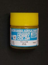 GUNZE SANGYO MR HOBBY AQUEOUS COLOR COLORE ACRILICO GLOSS YELLOW GIALLO 10ml  H4