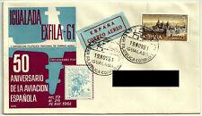 SOBRE PRIMER DÍA. 1961. 50 ANIVERSARIO AVIACIÓN ESPAÑOLA. IGUALADA EXFILA