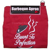 Kitchen Barbeque Apron Printed BURNT TO PERFECTION One Size New in Package