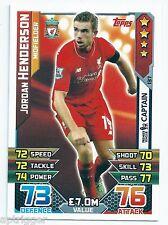 2015 / 2016 EPL Match Attax Base Card (137) Jordan HENDERSON Liverpool