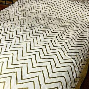 Inter Design Shower Curtain Liner Hooks Chevron Pattern #B4