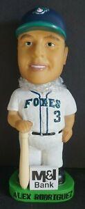 02 Alex Rodriguez Foxes M&I Bank Bobble Dobbles Bobblehead Appleton WI Baseball