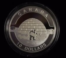 2014 $10 Fine silver coin O Canada - The Igloo  , come With CAO and Box not tax