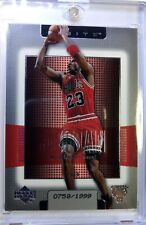 2003 03 Upper Deck Finite Michael Jordan #16, #'d/1999, Chicago Bulls, HOF