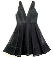 Sheike Womens Sz 8 Black Sleeveless Knee Length Sleeveless Fit Flare Tulle Dress