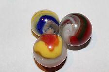 Vintage Akro Agate Popeye Marbles lot of 3!