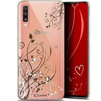 "Coque Pour Samsung Galaxy A70 (6.7"") Extra Fine Love Hearts Flowers"