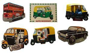 India Rickshaw Taxi Metal Fridge Magnet Mumbai India Cricket Souvenir