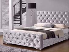 LUXURY CHESTERFIELD Crushed velvet upholstered Bed frame 3FT  4FT 4FT6 5FT