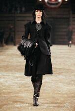 NIB CHANEL DALLAS PARIS DARK BROWN LEATHER TALL CC LOGO COWBOY BOOTS Size 40