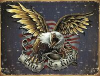 Live To Ride Eagle Bike Week Motorcycle Harley Indian Sturgis Wall Decor Sign