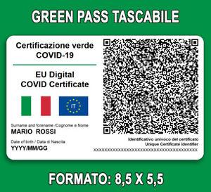 Stampa GREEN PASS plastificato su tessera Badge + Custodia, leggi istruzioni