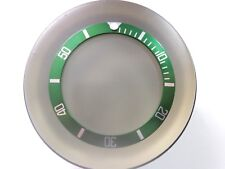 "NEW BEZEL INSERT 38MM ""GREEN SUBMARINER"" FITS SEIKO 10 BAR SKX031 DIVER'S WATCH"