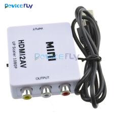 1080P Mini Composite HDMI to RCA Audio Video AV CVBS Adapter Converter For HDTV