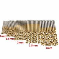 50 Stück HSS Spiralbohrer Metallbohrer Bohrer Drill bits 1/1.5/2/2.5/3mm Heiß