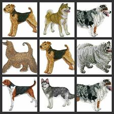 Beautiful Custom Dogs Embroidered Iron On Patches(A)