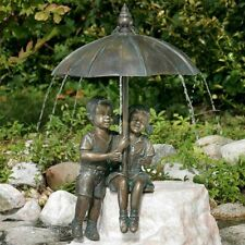 Gute-laune Frosch 12cm bronze Gartenfigur Wasserspeier Rottenecker