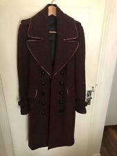 Burberry Prorsum Coat. 70% Virgin Wool. Burgundy colour. Size 10/12