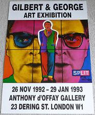 Gilbert y George-Exposición Arte cartel exposición Arte Raro 1993 Split
