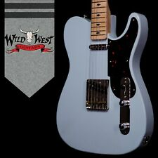 Fred Stuart Wild West 20th Anniversary Diamond Back Snake Head Guitar # 10 Blue