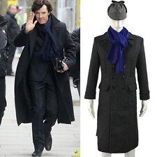 Cosplay Sherlock Holmes Cape Coat Costume Jacket Wool Christmas Gift Handmade