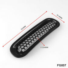 For 2007-2018 Jeep Wrangler JK Matt Black Front Insert Mesh Grille Trim Cover RS
