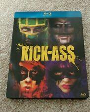 Kick-Ass Italian with art cards Blu-Ray Steelbook - Open, Good