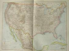 Antique map : The United States of America / USA 1897