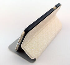 WHITE LEATHER WALLET BOOKET CASE COVER WITH STAND APPLE IPHONE 6 6S 4.7