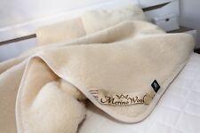 vente Set 100% mérinos laine couverture lit taille Double + 2 oreillers 45/75cm