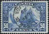 Canada #158 used VF+ 1929 Scroll 50c Bluenose Saint John SON CDS CHOICE!!