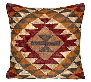 Handmade Kilim Cushion Cover Diamond Ethnic Rustic Indian Moroccan 60cm x 60cm