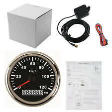 85mm GPS Speedometer Waterproof Gauge 120KM/H for Car Truck Marine Boat 12V 24V