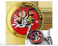 2015 CANADA LOONEY TUNES BUGS BUNNY & FRIENDS $100 14karat GOLD COIN & WATCH!