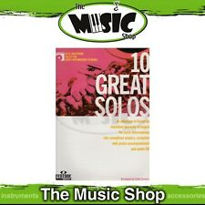 New 10 Great Solos for Early Intermediate Alto Sax Music Book & CD - Saxophone
