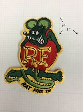 RAT FINK PATCH, ED ROTH, HOT ROD CUSTOM GASSER VTG, IRON ON, OFFICIALLY LICENSED