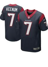 Mens Houston Texans Case Keenum Nike Blue Game Jersey Small 💯 %GENUINE