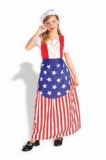 Betsy Ross Child Costume Size M Medium 8-10 NEW Patriotic