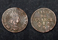 Liard de France 1656 I (Limoges). 2°Type. Louis XIV°. Cote TB: 50€/ TTB: 100€