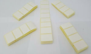100 Self Adhesive plain White labels Small Labels Spice Jar Herb Labels