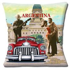 "ARGENTINA Classic Car Chitarra Musicista Salsa Ballerini 16"" CUSCINO COVER"