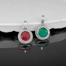 925 Sterling Silver Ruby Emerald Ladies Pendant Necklace Gift Boxed Jewellery